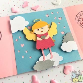 """😇 """"Мой ангел Блондинка"""" механическая открытка в подарок любимым"""