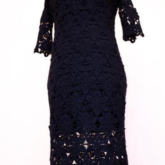 Вязанное платье крючком
