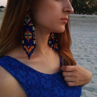 SALE Мексиканские сережки из бисера