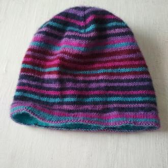 Двусторонняя женская шапочка