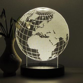 """3D светильник """"Глобус"""""""