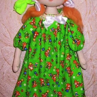 Кукла органайзер для пижамы, Кукла декор детской комнаты, кукла пижамница, кукла органайзер игрушек,