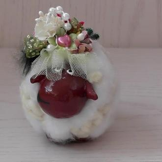 """Фигурка из папье-маше """" Овечка невеста"""""""