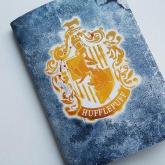 Блокнот из крафт-бумаги с гербом Хаффлпафф (Пуффендуй)