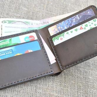 Компактный мужской кожаный кошелек K04-450