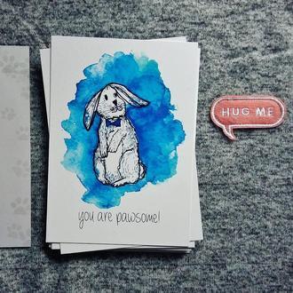 """Авторська листівка """"You are pawsome"""""""