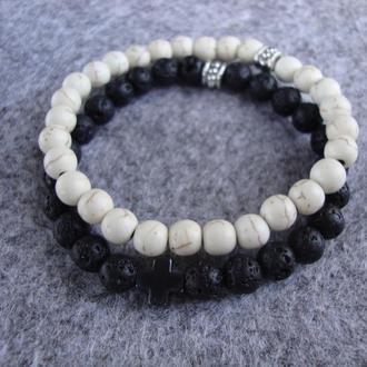 Набор браслетов из натурального камня