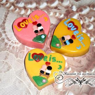 """Мыло сувенирное""""Сердце Love is..."""""""
