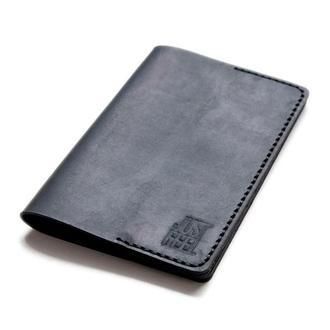 Обложка на паспорт кожаная black Just Feel