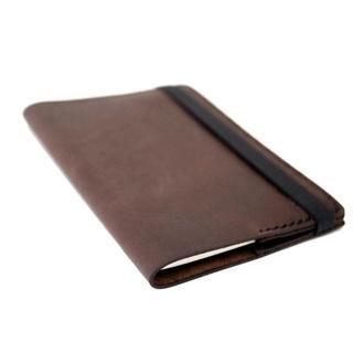 Блокнот брендированный Just Feel в кожаной обложке brown