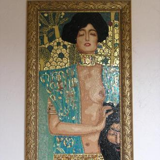 Картина из мозаики под раму.