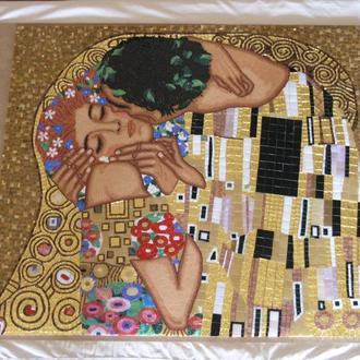 Климт. Поцелуй. Картина из мозаики.