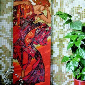 Альфонс Мария Муха. Картина из мозаики.