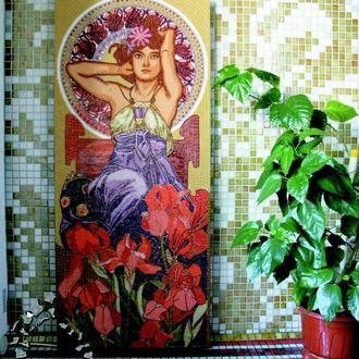 Аметист. Альфонс Мария Муха. Картина из мозаики.