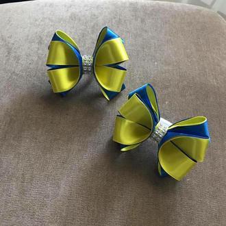 Бантики жовто-сині на резинках