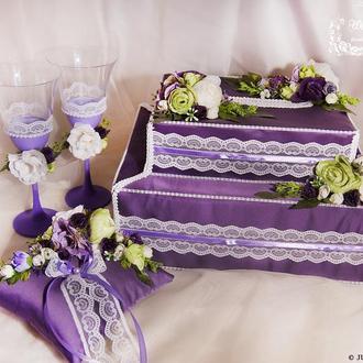 """Весільний набір """"Фіолетові троянди"""""""