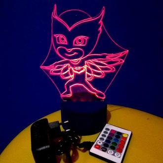 Аллет, ночник акриловый, светильник, led, лампа, герои в масках, детский подарок, супергерои