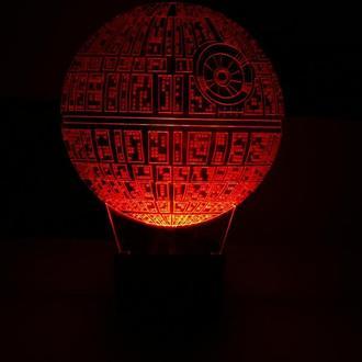 Звезда смерти, ночник, акриловый светильник, лед лампа, звездные войны, сага, игрушка, подарок