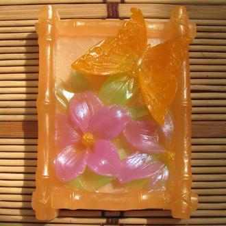 """Мыло """"Бабочка в цветах"""""""