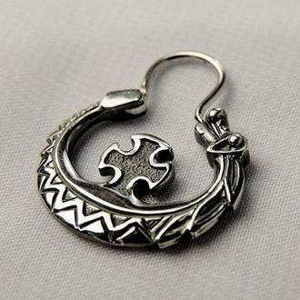 Сережка козацька «ЗМІЙ» (срібло)