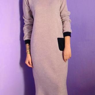 Платье-свитшот из ангоры