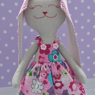 Игрушка Зайка Іграшка Зайченя Подарок ребенку Подарунок для дівчинки Подарунок на хрестини