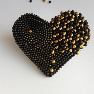 "Брошь ""Black,black heart...."""