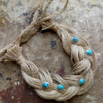 Ожерелье колье из жгута