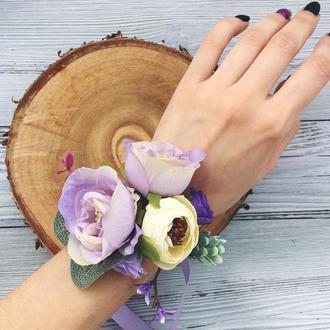 Подарок на День Святого Валентина, свадебное украшение на руку браслет с цветами для невесты дружек