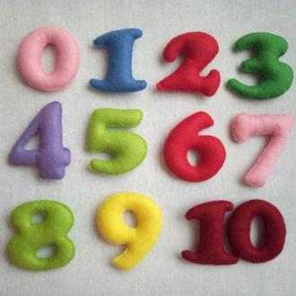 Цифри на магнітах