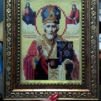 3д картина из страз, Картина Святий Миколай, Алмазная живопись