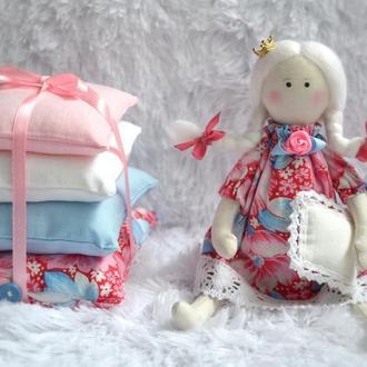 """Текстильная игровая  кукла """"Принцесса на горошине"""" в стиле Тильда"""