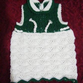 платье вязанное детское