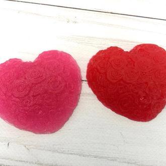"""Сувенирное мыло """"Сердце в розах"""""""