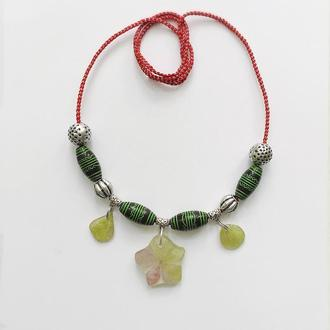 Ожерелье Гортензия из  сада Венеции