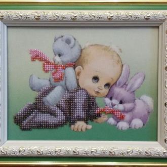 """Малыш"" картина бисером"