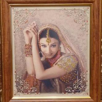 """Картина стразами """"Индийская девушка"""""""