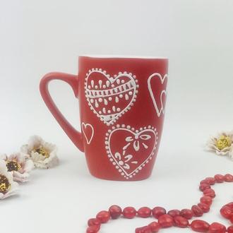 Чашка Сердечки