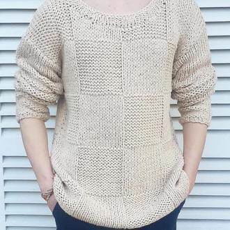 Летний мужской свитер ручной работы из хлопка