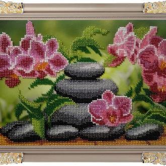 "Картина бисером "" Орхидеи"""