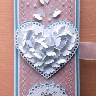 """Шоколадница """"Порхающее сердце"""""""