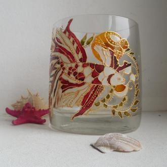 чашка с витражной росписью
