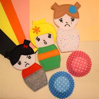 3 двосторонні ляльки для вивчення емоцій