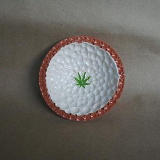 """Керамічна тарілка """"Біла флора"""""""