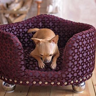 """Диван для собак и кошек """"Триумф"""" пурпурный"""
