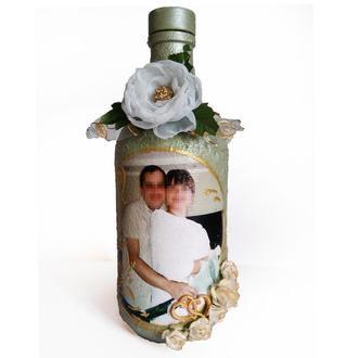 Декор бутылки с Вашим фото на заказ Подарок на 14 февраля день влюбленных