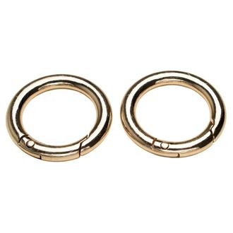Кольцо-карабин 25мм золото
