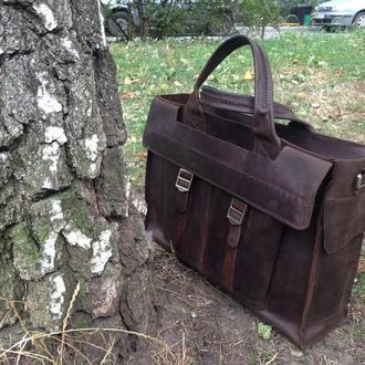 Мужская сумка-портфель из кожи