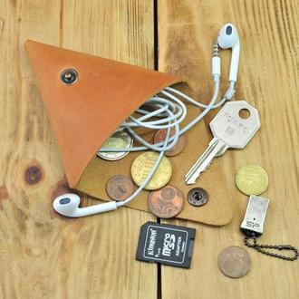 Маленький кошелек для монет, ключей, наушников, флешек