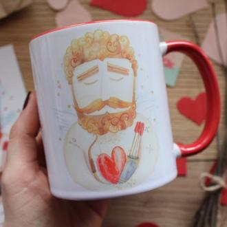 "Чашка с принтом ""Ми разом творимо кохання"""